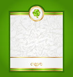 Card with trefoil for Saint Patrick day Royalty Free Stock Images