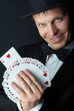 Card trick Stock Photo