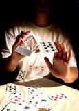card trick Arkivbild