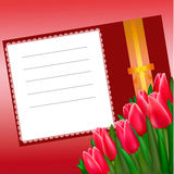 Card with tulips Stock Photo