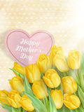 Card with Tulips. EPS 10 Royalty Free Stock Images