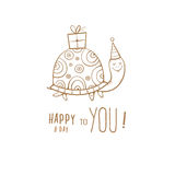 Card with turtle. Royalty Free Stock Images