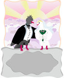 Card with two doves Stock Photo