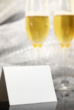Card with two glasses of champagne Stock Photo