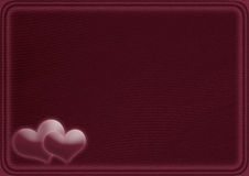 Card with two hearts Stock Image