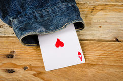 Card up the sleeve Royalty Free Stock Image