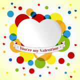 Card Valentin day. Colorful Circles Background. template vector illustration