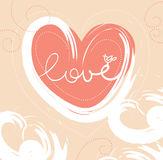 Card of valentine day Royalty Free Stock Image