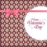 card for Valentine day. Royalty Free Stock Images