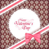 card for Valentine day. Stock Image