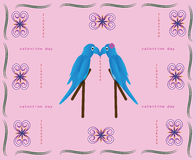 Card valentine love Stock Images