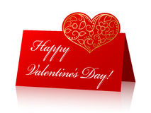 Card for Valentine's Day Royalty Free Stock Image