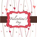 Card for Valentine's Day. Illustration Royalty Free Stock Image
