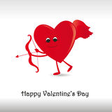 Card on valentine's day Stock Images
