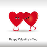 Card on valentine's day Royalty Free Stock Photo