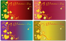 Card for Valentine's Day. Vector drawing with stylized hearts on Valentine's Day Stock Photo