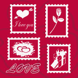 Card for Valentine's Day Royalty Free Stock Photos