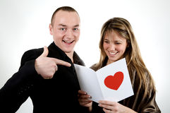 Card valentine's day Stock Images