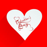 Card for valentines day Beautiful heart calligraph Stock Photography