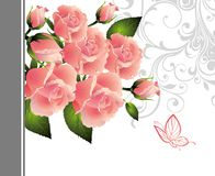 Card for Valentine's day with butterfly Royalty Free Stock Photos
