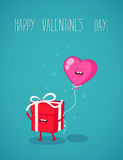 Card Valentine`s day. Royalty Free Stock Image