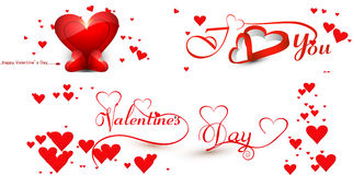 Card for valentine's day collection colorful background Royalty Free Stock Images