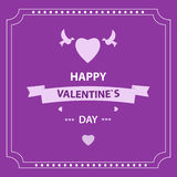 Card Valentine`s Day. design elements. eps 10. Card Valentine`s Day with design elements Royalty Free Stock Images
