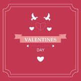 Card Valentine`s Day. design elements. eps 10. Card Valentine`s Day with design elements Royalty Free Stock Photos