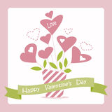 Card for Valentine's Day Royalty Free Stock Photo