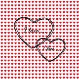 Card on valentine's day Royalty Free Stock Images