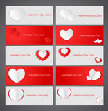 Card with Valentine's Day. Valentine's Day greeting card with hearts. Vector illustration Vector Illustration