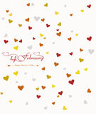 Card for valentine's day heart beautiful background Royalty Free Stock Photos