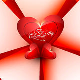 Card for valentine's day heart colorful  Stock Photo