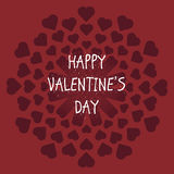 Card Valentine`s Day royalty free stock photos