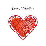Card for Valentines day. EPS, JPG. Card for Valentines day: red heart on a white background. EPS, JPG Stock Image