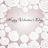 Card for Valentine's day with roses Royalty Free Stock Photos