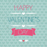 Card for Valentine's Day. Typography. Grunge effect.  Royalty Free Stock Image