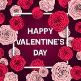 Card Valentine`s day vector illustration Royalty Free Stock Image