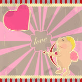 Card for Valentine's Day in vintage style Stock Photo