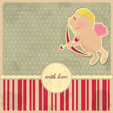 Card for Valentine's Day in vintage style Royalty Free Stock Photography