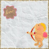 Card for Valentine's Day in vintage style Royalty Free Stock Photo