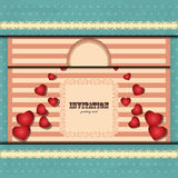 Card for Valentine\'s Day in vintage style Royalty Free Stock Photography