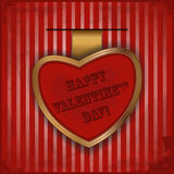 Card for Valentine\\\'s Day in vintage style Royalty Free Stock Photography