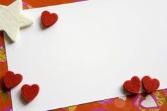 card valentinen Royaltyfria Bilder