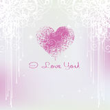Card for Valentines Day stock illustration