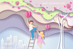Card for Valentines day royalty free stock images
