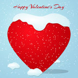 Card for Valentines Day with heart. Vector illustration. Card for Valentines Day with snowing heart. Vector illustration Stock Photo
