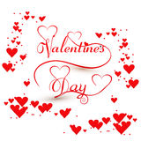 Card for Valentines day hearts colorful  Royalty Free Stock Photos
