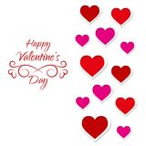 Card for Valentines Day with lots of hearts Royalty Free Stock Photos