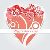 Card for Valentines day Stock Photo